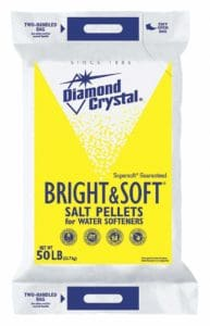 diamond crystal water softener salt in the form of pellets